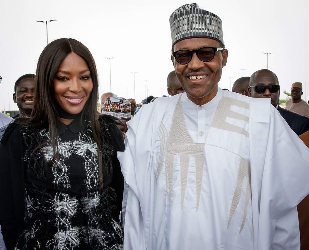 NAOMI CAMPBELL VISITS THE PRESIDENT OF NIGERIA AS PART OF HER ACTIVITIES FOR ARISE FASHION WEEK 2018