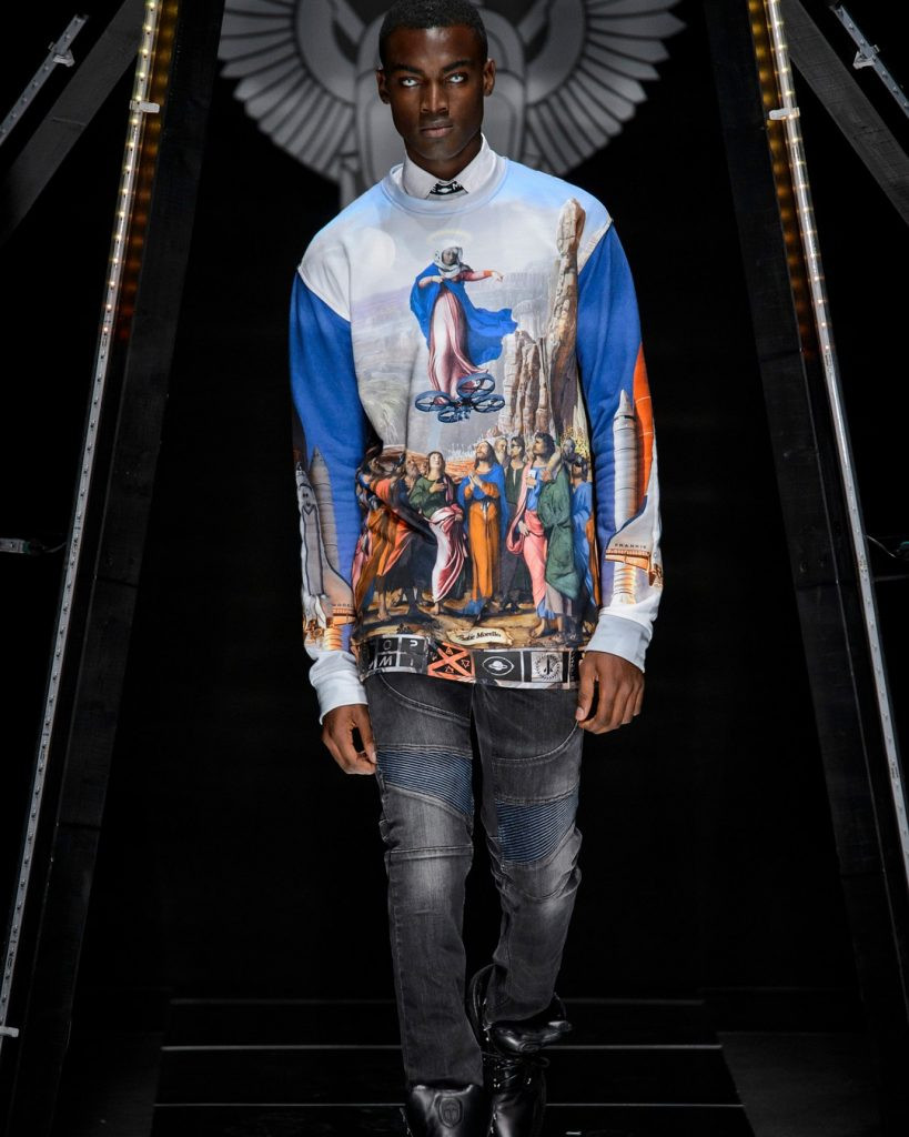 #SCHICKMAN: NIGERIAN MALE SUPERMODEL DAVIDSON OBENNEBO TAKES PARIS FASHION WEEK MEN'S SS19