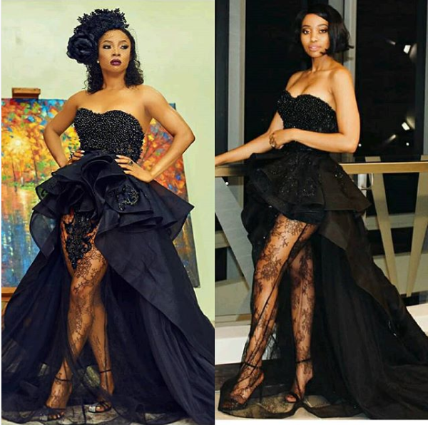#SCHICKSTYLEOFF: NTANDO MTHETWA AND TOKE MAKINWA BOTH ROCK THIS STUNNING ORAPELENG PIECE